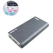USB Batera Externa 20000mAh 5V / 2.1A Cargador Con LED linterna portable de la energa del cargador del banco para el iPh