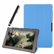 Funda Protector de Piel Cuero con Soporte Funda Protector Carcasa Para Asus Transformer Book T100 Chi Tablet 10.1 inch Azul