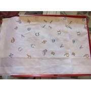 Capovolto Fazzoletti donna Apitexa modello alfabeto disegnato