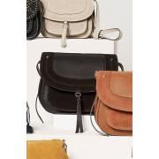 Womens Next Leather Saddle Bag - Black