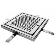 Reja de desagüe cuadrada en acero inox AstralPool - 00284 - AISI-304 - 200 x 200 mm - Caudal máx 15 m3/h (0,5m/s)