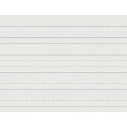 Skip-A-Line Ruled Newsprint Paper, 30 lbs., 11 x 8-1/2, White, 500 Sheets/Pack, Sold as 1 Package