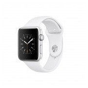 42mm Silver Aluminium Case with White Sport Band - Series 2