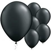 Onyx negro globos - 11'' perla globo del látex (paquete de 25)