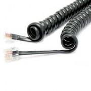 Cordão Espiral p/ Monofone 5m Preto - Dantas Telecom