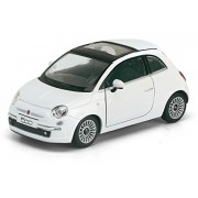 Kinsmart 1:28 Scale Fiat 500 Die-Cast Car with Openable Doors & Pull Back Action