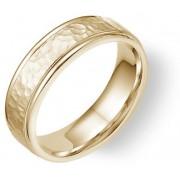 Hammered Wedding Band Ring - 14K Yellow Gold