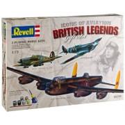 RCS Toys Revell 5729 1:72 British Legends Gift Set - Icons of Aviation - 3 Model Plane Kits 'RAF WWII Classics' Assembly Model Kit