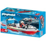 Playmobil Fire Boat with Trailer