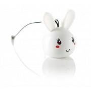 Boxa portabila KitSound Trendz Mini Buddy Bunny, KSNMBBUN, Alb