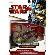 Star Wars Transformers Crossovers - OBI-WAN & JEDI STARFIGHTER - Red