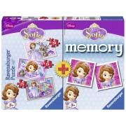 PUZZLE + JOC MEMORY PRINTESA SOFIA 3 BUC IN CUTIE 15/20/25 PIESE (RVSPC07358)