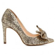 Shoestock Scarpin Shoestock Glitter Laço - Feminino