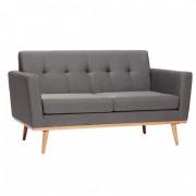 Canapea design nordic cu picioare din lemn stejar, Bergan 1 gri inchis 100201 HB