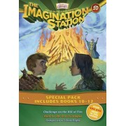 Imagination Station Books 3-Pack: Challenge on the Hill of Fire / Hunt for the Devil's Dragon / Danger on a Silent Night by Marianne Hering