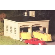 Bachmann Trains Fire House with Pumper Truck, Ladder Truck and Fire Chief Car