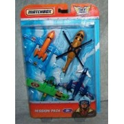 Matchbox Sky Busters Mission Pack - 4 Aircraft - Metro Commuter - Pacific Patrol - Mission Chopper -