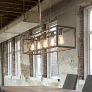 LUMZ Hanglamp met rechthoekig metalen frame