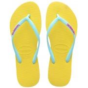 havaianas Slim Logo Flips Women Revival Yellow 43/44 Zehentrenner