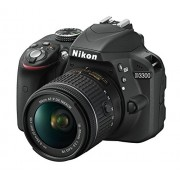 "Nikon VBA390K8 D3300 Kit Fotocamera Reflex Digitale con Nikkor Af-P 18/55 VR , 24.2 Megapixel, LCD 3"", SD 8 GB 300x Premium Lexar, Nero [Nital Card: 4 Anni di Garanzia]"