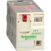 Releu conectabil miniatural - zelio rxm - 2 c/o - 24 v c.a. - 12 a - cu led - Relee de interfata - Zelio relaz - RXM2AB2B7 - Schneider Electric