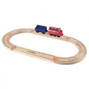 Chuggington Wooden Railway Easy Track Starter Set - Wilson Rides the Rails