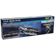 Italeri 503 - Modellino, Nave portaerei USS Nimitz, scala 1:720