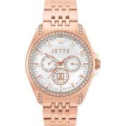 JETTE Time Damen-Armbanduhr Existence Edelstahl Swarovski Kristall Analog Quarz One Size, perlmutt, rosé