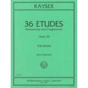 IMC Networks Kayser: 36 Etudes (Elementary & Progressive) Op.20 for Violin, ed. Gingold