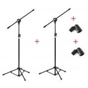 Kit com 02 Pedestais com Cachimbos para 01 Microfone - Vector