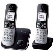 Telefon fara fir DECT Twin Panasonic KX-TG6812FXB cu Doua Receptoare Negru/Gri