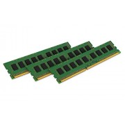 Kingston KVR18R13S8K3/12 Memoria RAM da 12 GB, 1866 MHz, DDR3, ECC Reg CL13 DIMM Kit (3x4 GB), 240-pin