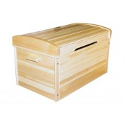 Steiner Shopping Furniture Blanket Box 006, solid pine wood, clearly varnished ? 59H x 53W x 87D cm