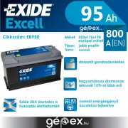 Exide Excell 95Ah 800A J+