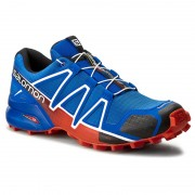Обувки SALOMON - Speedcross 4 383132 28 V0 Blue Yonder/Black/Lava Orange
