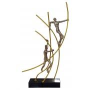 - Statue design métal et résine - Climbers