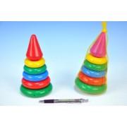 Skladačka pyramída s krúžkami malá plast