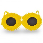 Premium Party Yellow Sun Flower Specks, Birthday Party Goggles For Photo Props In A Photo Booth , Ideal For Taking Selfies
