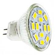 6W GU4(MR11) Lâmpadas de Foco de LED 12 SMD 5730 570 lm Branco Quente / Branco Frio DC 12 V