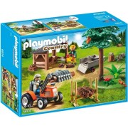 Playmobil Lumber Yard With Tractor 6814