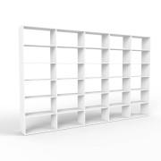 mycs MDF - bibliothèque moderne blanc - L 374 cm x H 232 cm x P 34 cm