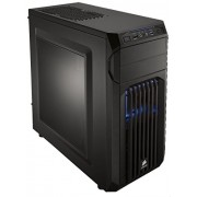 Corsair CC-9011056-WW Case Essential Gaming Mid Tower Atx Carbide Spec-01 Con Finestra e Ventola Frontale a LED, Blu/Nero