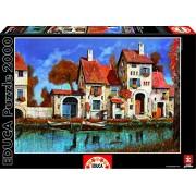 Educa - 16316 - Puzzle Classique - La Cascina Sul Lago - Guido Borelli - 2000 pièces
