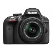 Nikon D3300 + 18-55VR II fekete tükörreflexes digitális fényképezőgép
