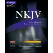 NKJV Wide Margin Reference Bible, Black Calfsplit Leather, Red Letter Text NK744:XRM by Cambridge Bibles