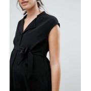 Mama.licious Mamalicious Sleeveless Belted Dress - Black