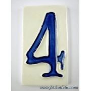Numero civico ceramica grande nc5