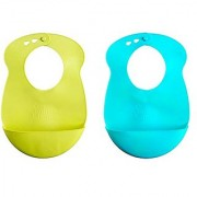 Tommee Tippee Explora Easi Roll Bib Blue and Green 2 Count (Color may vary)