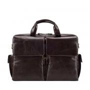Herren Leder Laptoptasche in Dunkelbraun - Aktenkoffer, Aktentasche, Businesstasche, Umhängetasche