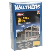 "Walthers HO Scale Rail Shops Cornerstone Series® Railroad Shop Kit 17-1/8 x 8-3/4 x 8-5/8"" 43.4"